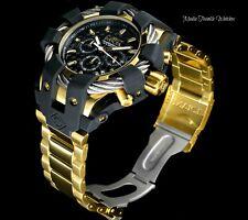 NEW Invicta Mens 50mm Bolt Sport Quartz Chronograph 18kGold Tone Bracelet Watch