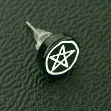 Titan Titanium Ohrstecker Ohrringe Silber Gothic Pentagramm Sterne Damen Herren