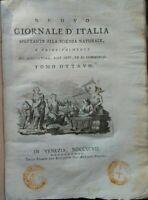 1795 ANNATA COMPLETA 'NUOVO GIORNALE D'ITALIA' VIAGGI, SCIENZA, ESPERIMENTI.....