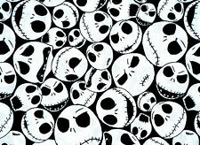 FAT QUARTER FABRIC NIGHTMARE BEFORE CHRISTMAS PACKED JACK TIM BURTON 100% COTTON