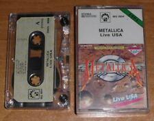 METALLICA - Live USA Cassette Tape MG