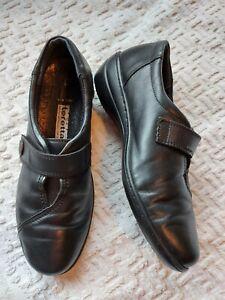 Loretta Ladies Handmade Black Leather Shoes Size 6
