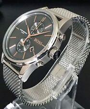 *NEU* Original Hugo Boss HB1513440 Jet Uhr Chronograph Edelstahl Meshband Grau