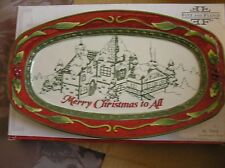 "FITZ & FLOYD TRAY ST NICK""S SENTIMENT TRAY SNACK PLATE CHRISTMAS NIB"