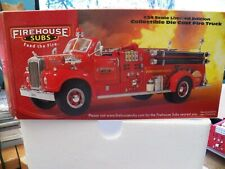 FIRST GEAR FIREHOUSE SUBS  DIE CAST FIRE TRUCK 1:34 SCALE