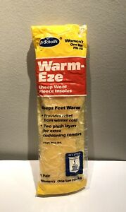 NEW - Dr. Scholl's Women's Warm-Eze Wool Fleece Insoles - One Size - Trim to Fit
