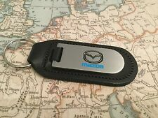MAZDA Key Ring Etched and infilled On Leather