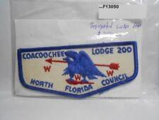COACOOCHEE LODGE 200 NORTH FLORIDA COUNCIL SEGREGATED LODGE FLAP F13050