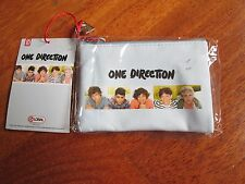 ONE DIRECTION Zip Top Purse BRAND NEW! Coins Portamonete NUOVO light blue