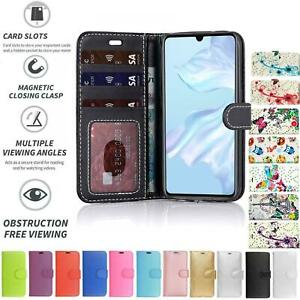 Case Cover Flip Leather Wallet Book Folio Stand For Huawei P Smart 2021