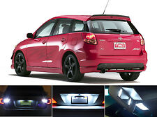 White LED Package - License Plate + Reverse for Toyota Matrix (4 Pcs)
