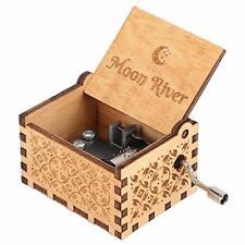 Hztyyier Carillon in Legno Carillon Intagliato Meccanismo Vintage (M5R)