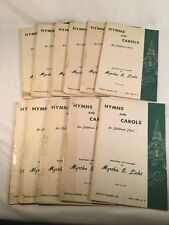 "Vtg Lot 11 Books ""Hymns and Carols for Children's Choir"" 1961 Licht Sheet Music"
