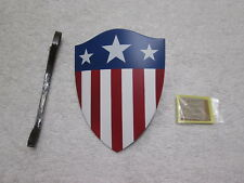 Captain America Shield & Notes 1/6 Scale Star Spangled Man MMS 205 - Hot Toys