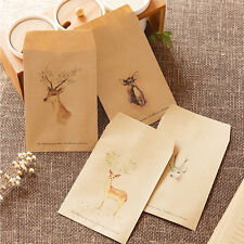 12 Pcs Deer Paper Envelope 4 Designs Envelopes Vintage European For Card Gift