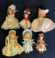 Lot of 6 Nancy Ann Storybook Dolls - 4 Bisque '37-'48 & 2 Sleep Eye Plastic '50+