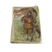 Antique Raphael Tuck Robinson Crusoe Linen Book Father Tuck's Dolly Dear Series