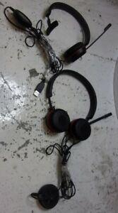 Lot of 2*Jabra Evolve 30 ENC060 HSC060 Stereo Headset USB