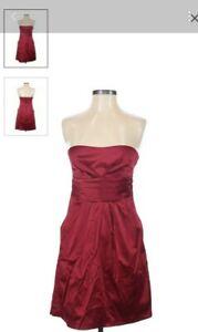 Studio Y Maroon Cocktail Dress Strapless Size 3