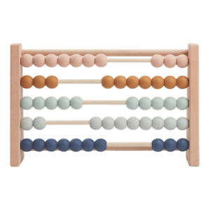 Children's Wooden Abacus Early Learning Toddler Maths Counting Beads Toy