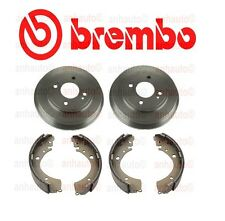 Set of 2 Rear Brake Drums & Drum Brake Shoes For: Honda Civic 1.7L 2001 - 2005