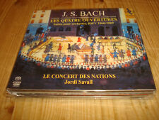 JORDI SAVALL Bach 4 Suites for Orchestra ALIA VOX 2 SACD NEW Signed NEU Signiert