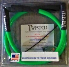 TWISTED 12mm SPARK PLUG WIRES HARLEY ELECTRA GLIDE ROAD KING STREET 1999-2008