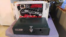 Vintage Coleman 2 Burner Camp Stove 425F in Box Slightly Used Compact Gas Stove