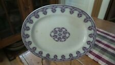 Antique Aesthetic Movement PLATTER Purple ITALIE B.B.W.&M., 13""