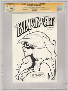 CGC SS Signed Adam Hughes Todd Klein Original Art Sketch Black Cat w/ Title Logo