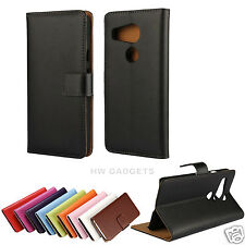 Genuine Real Leather Slim Flip Card Wallet Case Cover for LG Google Nexus 5X