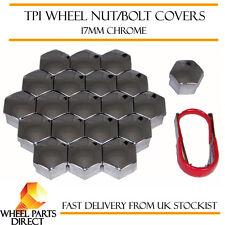 TPI Chrome Wheel Bolt Covers 17mm Nut Caps for Fiat Punto Evo Abarth 08-12