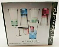 Circleware Heavy Colored Cordial Shot Shooter Glasses - Set of 6