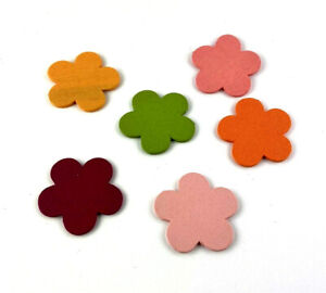 Flowers Sticker Wood Plugs Table Decorations Shaker Parts 6 Piece
