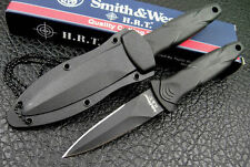 Smith & Wesson HRT Boot Knife, Neck,Hard Sheath #SWHRT3 Prepper Tactical Fixed