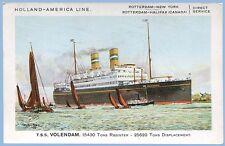 HOLLAND-AMERICA LINE - T.S.S. VOLENDAM  POSTCARD - UNUSED - SIGNED CHARLES NIXON