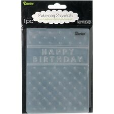 Darice Embossing Folder ~ Happy Birthday ~ Frame Dots  Cardmaking A2 1215-45