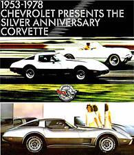 1978 CHEVY CORVETTE BROCHURE -CORVETTE 25TH SILVER ANNIVERSARY COUPE-L82