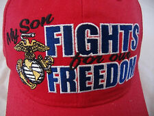 NEW Freedom Fighter Marines Headwear Red Hat Base Ball Cap Adjustable