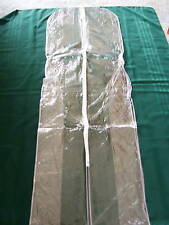 GARMENT  WEDDING  DRESS  BAG  WITH  ZIP   CLEAR    NEW