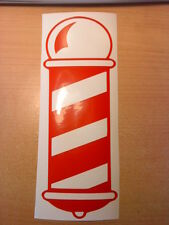 barbers pole shop window mirrors doors salon stylists vinyl barber sticker car