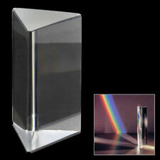 2inch/5cm Triangular Prism Optical Glass Triple Physics Teaching Light Spectrum