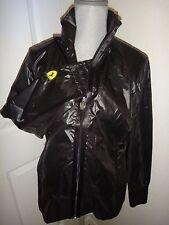Puma Ferrari Women's Black Lightweight Jacket~Full Front Zip~Polyester~Logo~Sz L