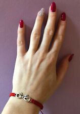 Ribbon 🎀 Red cord Lucky Bracelet Protection Evil Eye Handmade Christmas Gift