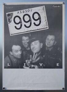 999 LIVE Vintage Poster ORIGINAL ITALY 90s TOUR PUNK/ROCK Buzzcocks/Undertones