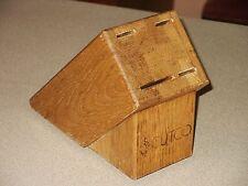 Vintage CUTCO Knife #1740 Studio Set Block Oak (4-Slot) for Knives