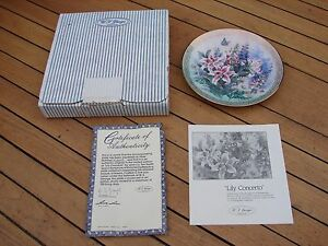 W J George  Shimmering Beauty Plate 4 Lena Liu Lily Concerto 4th Boxed COA