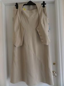 New Look 16 Suit Beige with waistcoat and skirt Brand New with Tags