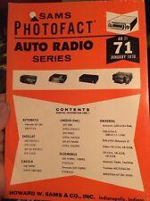 Sams Photofact-Auto Radio Manual/#AR-71 First Edition March 1970