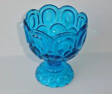 """Moon and Star Stars BLUE 6"""" Scalloped Compote"""